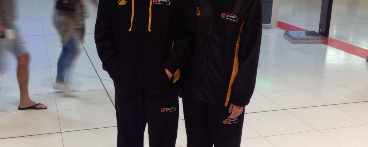 Daniel Jacques and Emily Winterbine Perth Airport en route to U16 Nationals